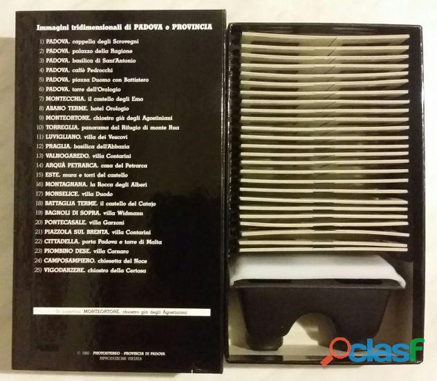 Photostereo 25 Immagini tridimensionali di Padova e provincia con visore 3D nuovo con scatola 2