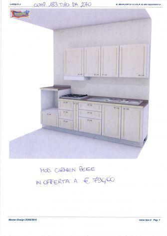 Cucina componibile da stock di 2° scelta, comp. 183 tipo da