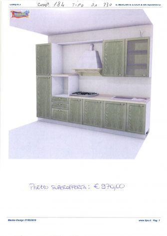 Cucina componibile da stock di 2° scelta, comp. 184 tipo da