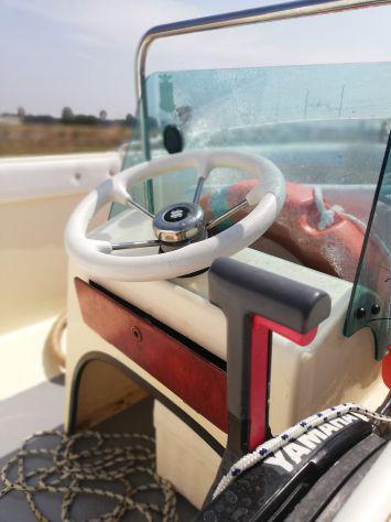 Barca motore carrello marca conero mod. red, motorizzata