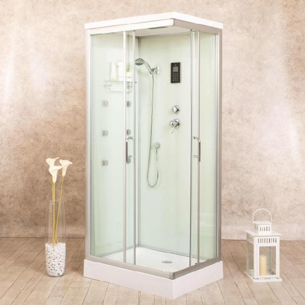 Box doccia idromassaggio multifunzione 70x110 cm vorich