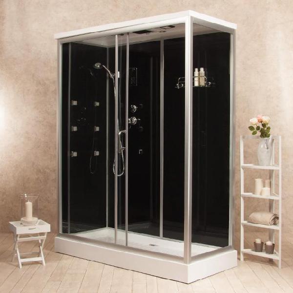 Box doccia idromassaggio multifunzione 70x120 cm vorich