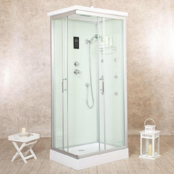 Box doccia idromassaggio multifunzione 70x90 cm vorich white