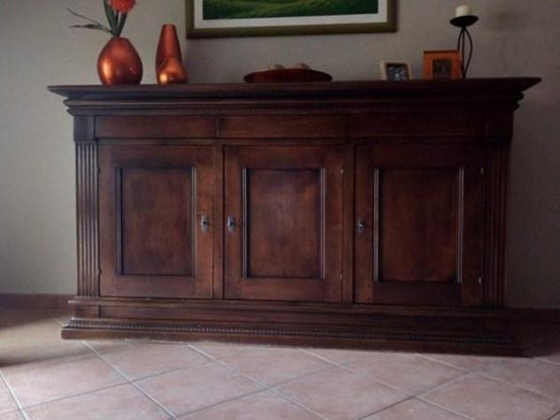 Credenza legno arte povera tre ante
