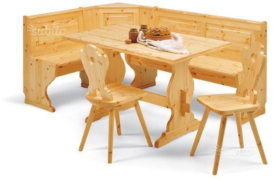 Giropanca tavolo e sedie in legno nuovi