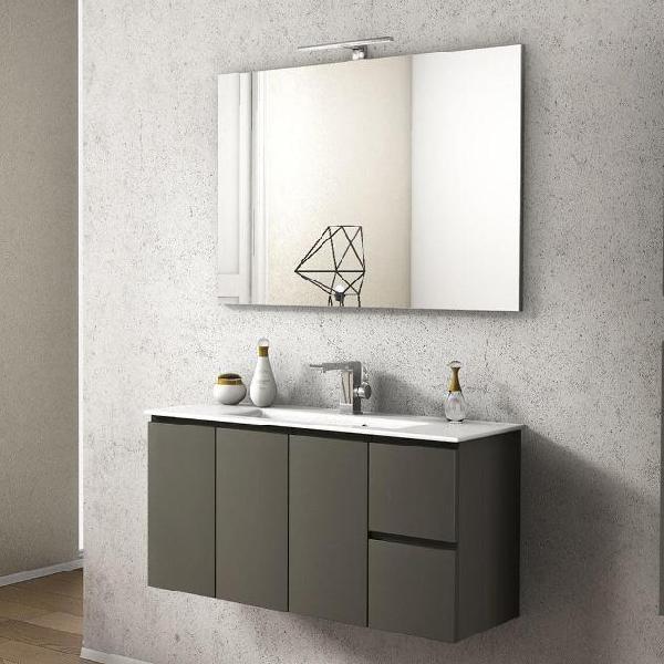 Mobile da bagno sospeso con lavabo 100x35cm in mdf taviani
