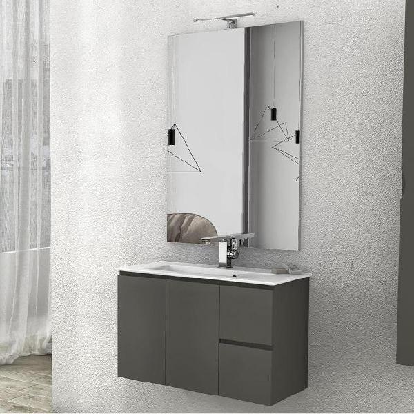 Mobile da bagno sospeso con lavabo 80x35cm in mdf taviani