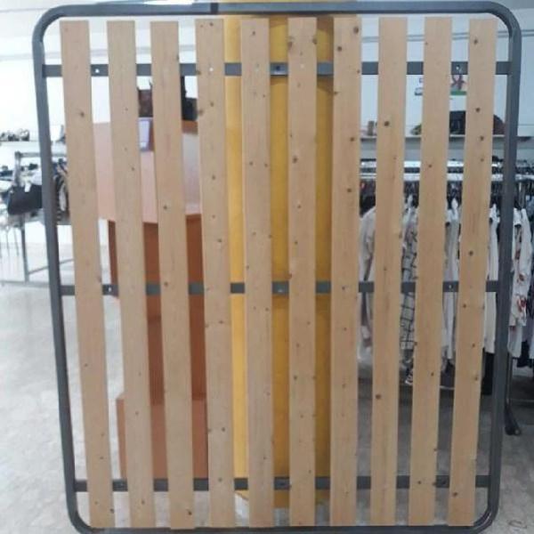 Spazio Casa Rete a Tavole Verticali Ortopedica con Profilo 6 cm 1 Piazza e Mezza 120 x 190 cm