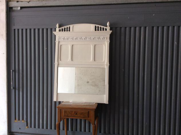 Specchiera in legno massello rivisitata in stile shabby