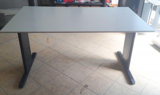 Tavolo scrivania metallo legno - disponibili 2 misure