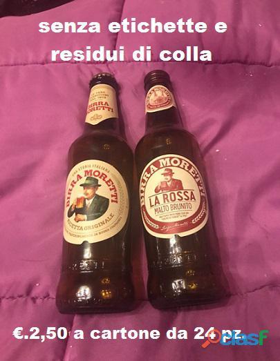cartone 24 bottiglie mod.moretti lavate senza etichette
