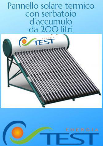 Pannello solare termico acqua calda con boiler 200 litri