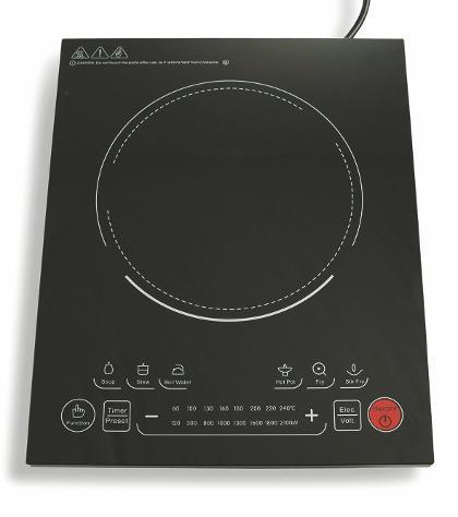 Piastra fornello ad induzione magnetica 2100w kooper fiona