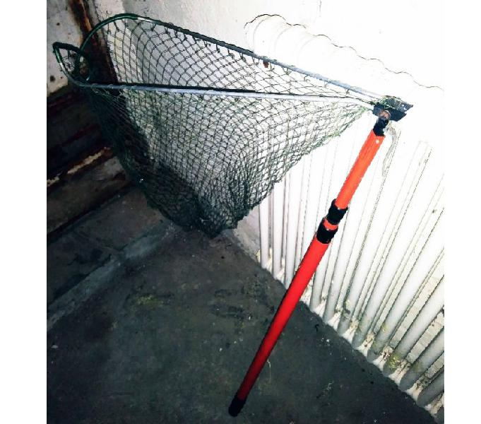 Blu Il Giro Pssopp Rete da Pesca Portatile Rete Regolabile Mini Rete da Pesca Sicuro per la Cattura o Il Rilascio di Pesci Guadino con Manico telescopico