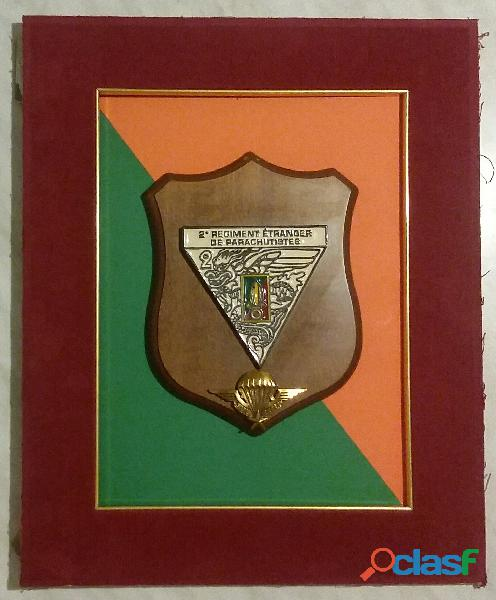 Crest 2°regiment etranger de parachutistes légion étrangère originale