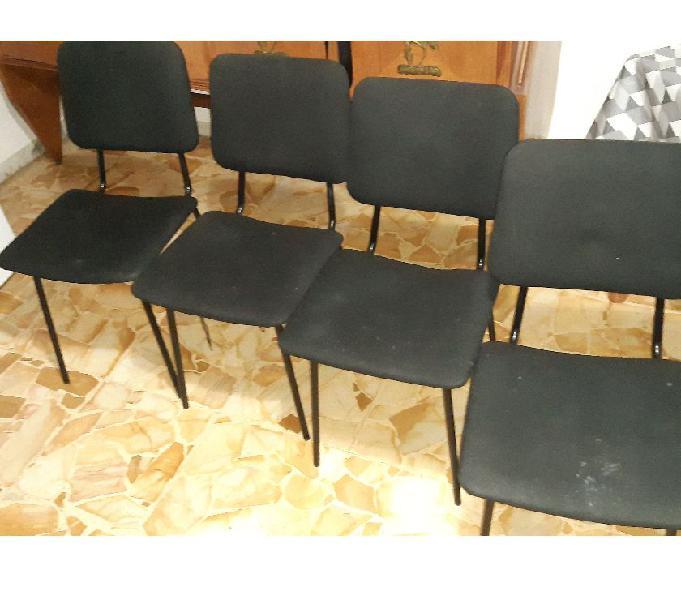 Set 4 sedie nere