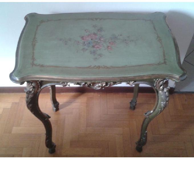 Tavolino e poltroncina, stile veneziano, fine 800-inizio 900