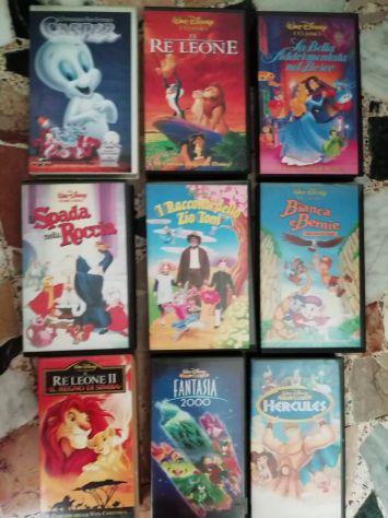 Videocassette vhs walt disney e altro