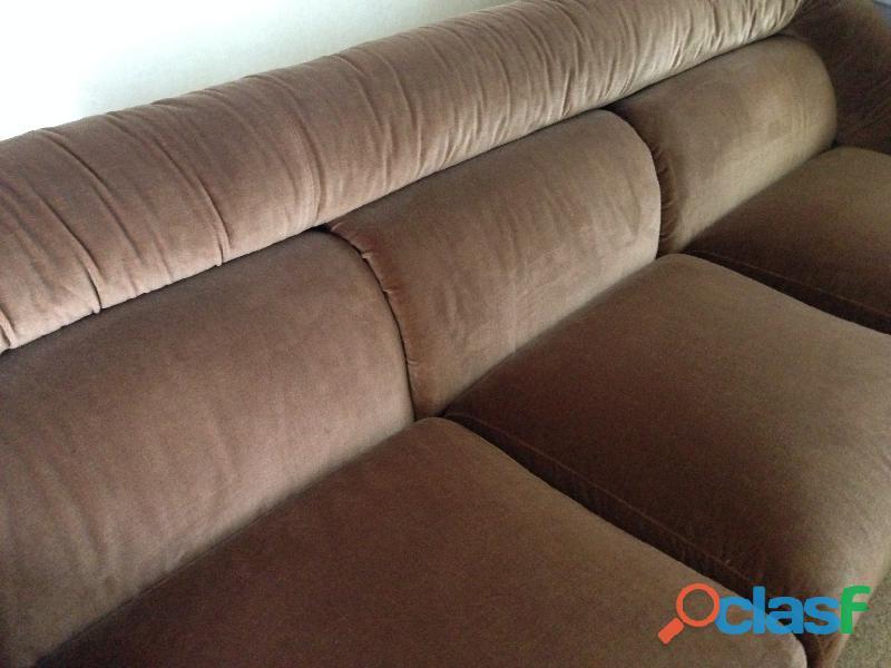 divano 3 posti letto singolo in velluto marrone .una poltrona 5