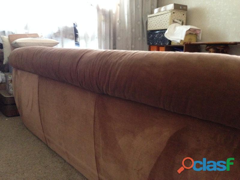 divano 3 posti letto singolo in velluto marrone .una poltrona 12