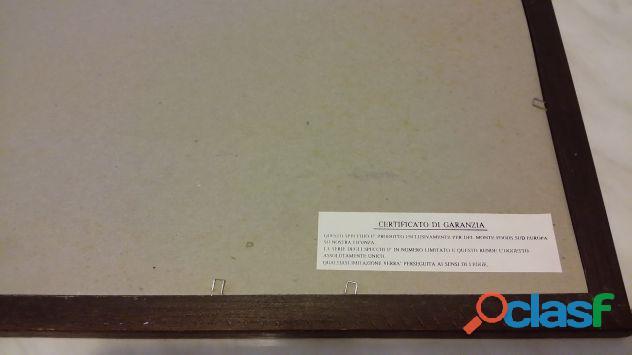 """Quadro a specchio pubblicitario Del Monte """"Del Monte Centenary 1892 1992 limited edition certificato 2"""