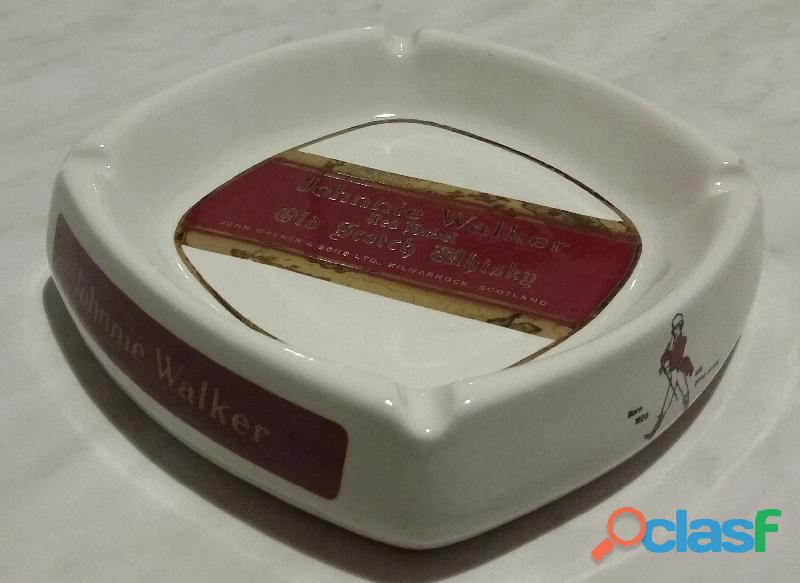 Portacenere in ceramica johnnie walker red label old scotch whisky pubblicita d'epoca nuovo