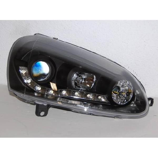 Fanali day light volkswagen golf 5 neri