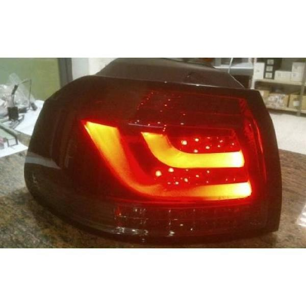 Fanali posteriori volkswagen golf 6 led red/smoked