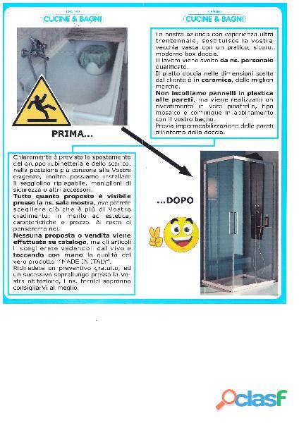 Sostituzione vasca con doccia,sumirago,mornago,albizzate