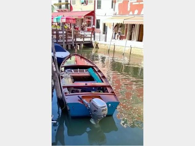 Barca a motore sanpierota storica anno1960 lunghezza mt6