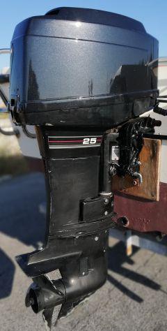 Motore fuoribordo mercury 25/35 gambo corto con leva cambio