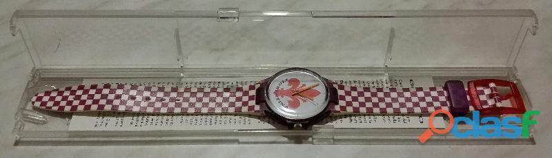 Orologio fiorentina football sport watch parmalat enduro vintage anni '90 collezione nuovo