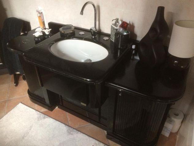 Mobile lavabo marmo nero