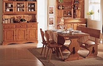 Mobili rustici: taverna soggiorno in legno nuovo affare