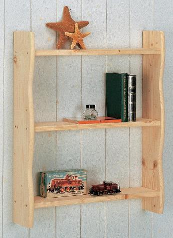 Piattaia in legno abete grezzo 60x15x70cm porta piatti fumer