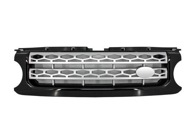 Land Rover Defender XS Mascherina /& Lampada Cornice Nero con Maglia Argento