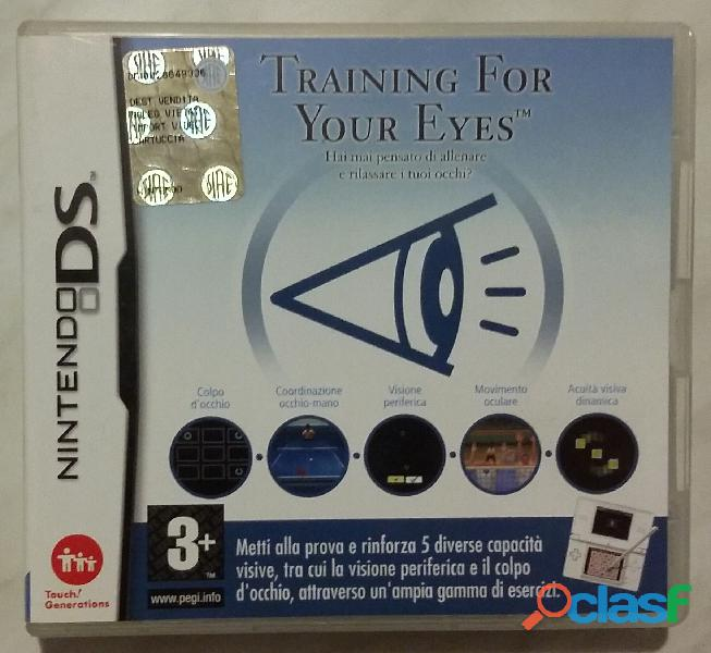 Nintendo ds training for your eyes. hai mai pensato di allenare e rilassare i tuoi occhi nuovo