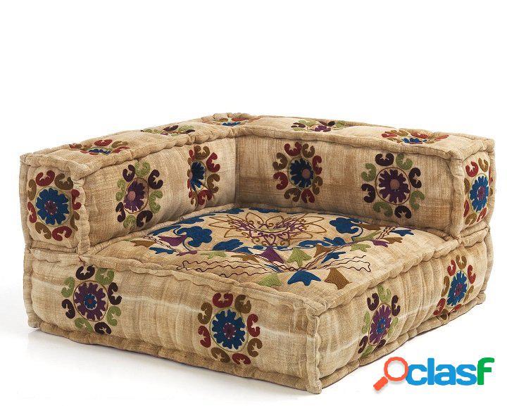 Elemento angolare poltrone o divani componibili con decori