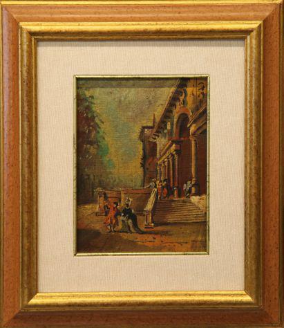 Dipinto dal 700 veneziano prmi 900 olio su tela