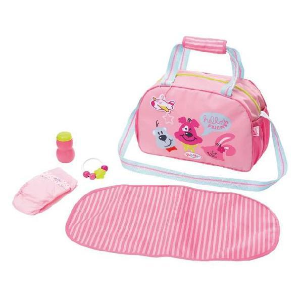 Zapf creation borsa pannolini giocattolo baby born rosa