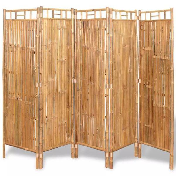 Vidaxl divisorio a 5 pannelli da recinzione in bambù