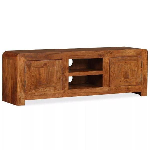 Vidaxl mobile porta tv legno massello e finitura sheesham