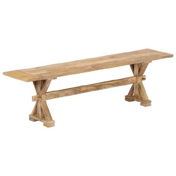 Vidaxl panca da ingresso 160x35x45 cm in legno massello di