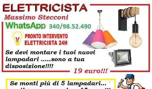 INSTALLAZIONE DEL TUO LAMPADARIO 19 EURO ROMA