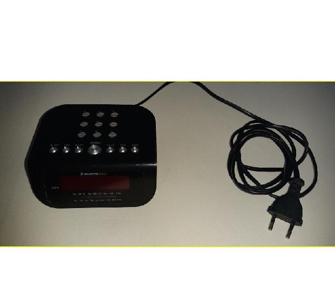 Nero Majestic Rs-134 Radio Sveglia Digitale FM a Doppio Allarme