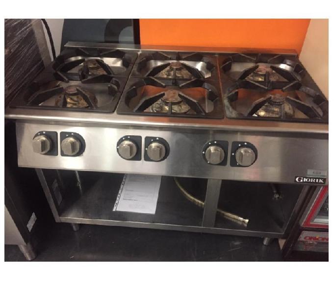 Cucina 6 fuochi gas usata revisionata