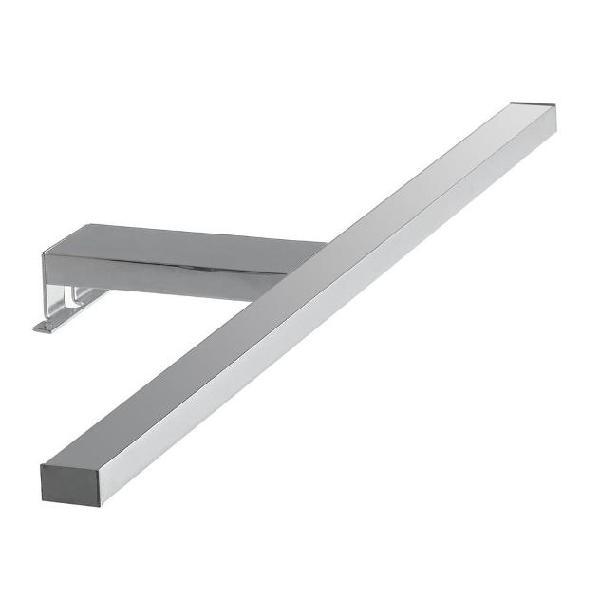 Applique minimal sopra specchio alluminio cromato led 8 watt