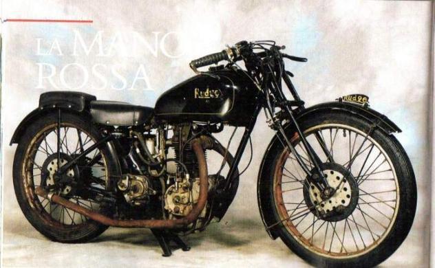 Moto epoca rudge whitworth tt replica unica al mondo 1926