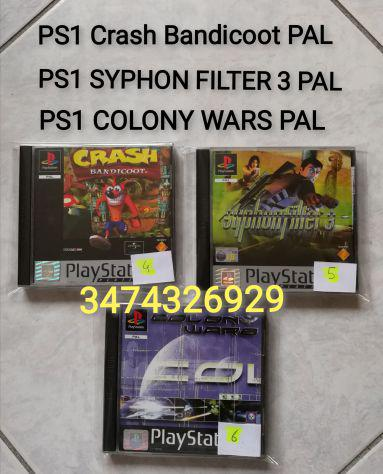 Ps1 crash bandicoot pal ps1 syphon filter 3 pal