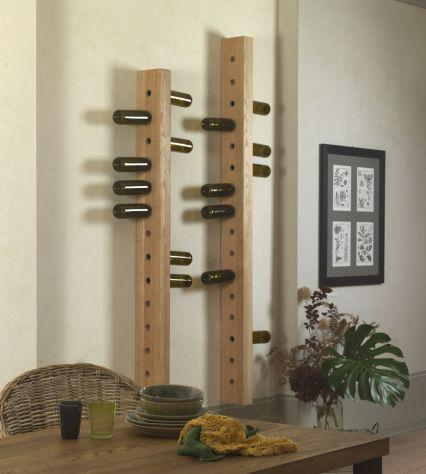 Portabottiglie in legno di pino vecchio cod.12052